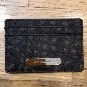Michael Kors MK Leather Logo Card Case